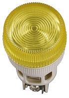 Лампа ENR-22 сигнальная d22мм белый неон/240В цилиндр ИЭК, фото 1