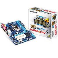 Материнська плата Gigabyte GA-H61M-S2PV (s1155, Intel H61, PCI-Ex16)(2xDIMM DDR3/VGA/DVI), б/у
