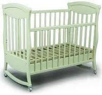 """Детская деревянная кроватка """"Gracia/ Грация"""" без ящика (120Х60, два уровня, полозья, ольха) ТМ Ласка-М Белый"""