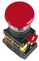 """Кнопка AEAL22 """"Грибок""""с фиксацией красный d22мм 240В 1з+1р ИЭК, фото 1"""