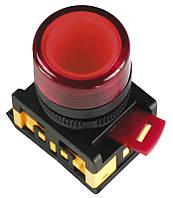Кнопка ABLF-22 белый d22мм неон/240В 1з+1р ИЭК, фото 1