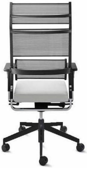 Крісло офісне c високою спинкою Enrandnepr LORDO Dauphin Чорний