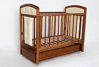"""Детская кроватка """"Birichino Vera"""" с ящиком для новорожденных. (два уровня, мягкая вставка, прод маятник) ТМ Ласка-М Орех"""