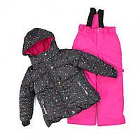 Зимний термокостюм для девочки 3, 6-8 лет (куртка и полукомбинезон), р. 98, 116-134 ТМ Peluche&Tartine KIDS52 EF M F16