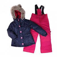 Зимний термокостюм для девочки 4-8 лет (куртка и полукомбинезон), р. 104-134 ТМ Peluche&Tartine 50 EF M F16 Navy