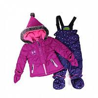 Зимний термокостюм для девочки 1-3 лет, р. 80-98 ТМ Peluche&Tartine 18 BF M F16 Baton Rouge
