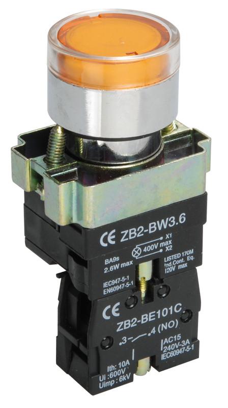 Кнопка управления LAY5-BW3361 с подсветкой зеленый 1з ИЭК