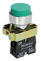 Кнопка управления LAY5-BL31 без подсветки зеленая 1з ИЭК, фото 1