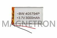 Аккумулятор литий-полимерный BW 405794P 3,7V 3000mAh 52x96mm
