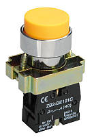 Кнопка управления LAY5-BL51 без подсветки желтая 1з ИЭК, фото 1