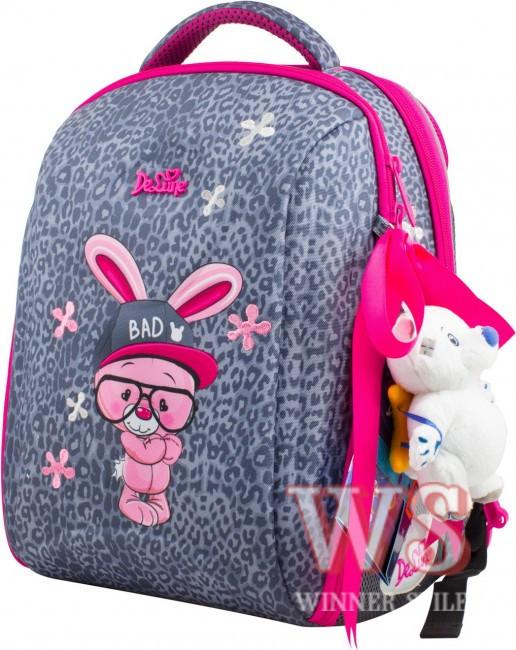 8d460a950a99 Рюкзак Delune 7-127 ортопедический школьный для девочек на два отдела рюкзак  для сменной обуви