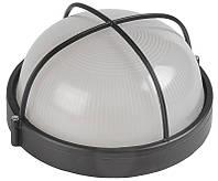Светильник НПП1308 черный/круг решетка крупная 60Вт IP54 ИЭК