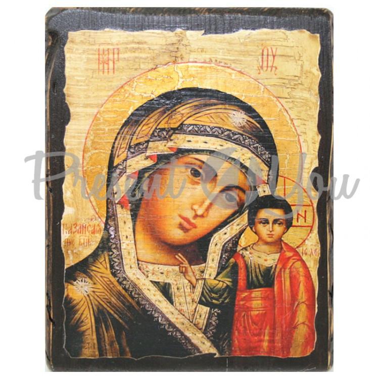 Деревянная икона Казанская Божья Матерь, 17х23 см (814-2007)