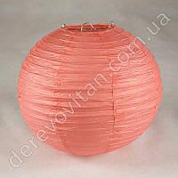 Бумажный подвесной фонарик, коралловый, 25 см
