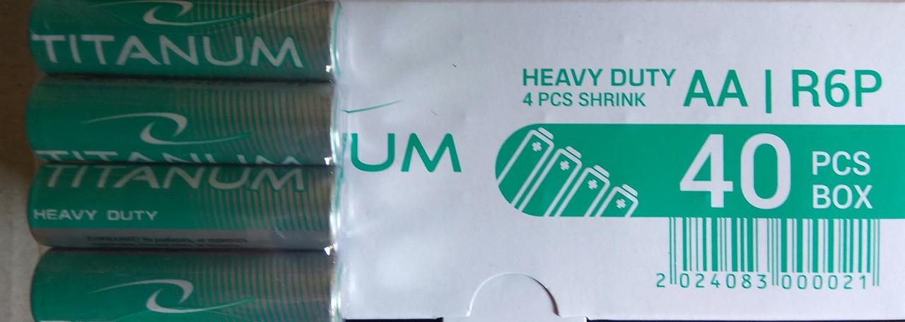 Батарейка  Titanum R 06P/AA 4pcs SHRINK