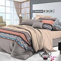 Полуторный комплект постельного белья 150*220 сатин (7801) TM KRISPOL Україна