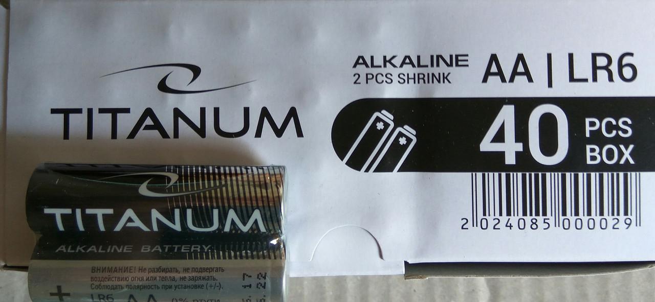 Батарейка  Titanum LR6/AA 2pcs SHRINK