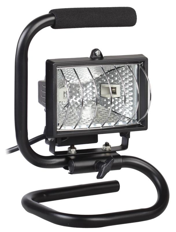 Прожектор ИО150П(переноска) галоген.черный IP54 ИЭК
