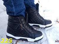 Высокие кроссовки-сникерсы зима со змейкой