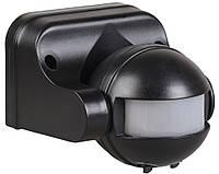 Датчик движения ДД 009 черный, макс. нагрузка 1100Вт, угол обзора 180град., дальность 12м, IP44, ИЭК, фото 1