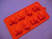 Форма силикон для конфет Зверята