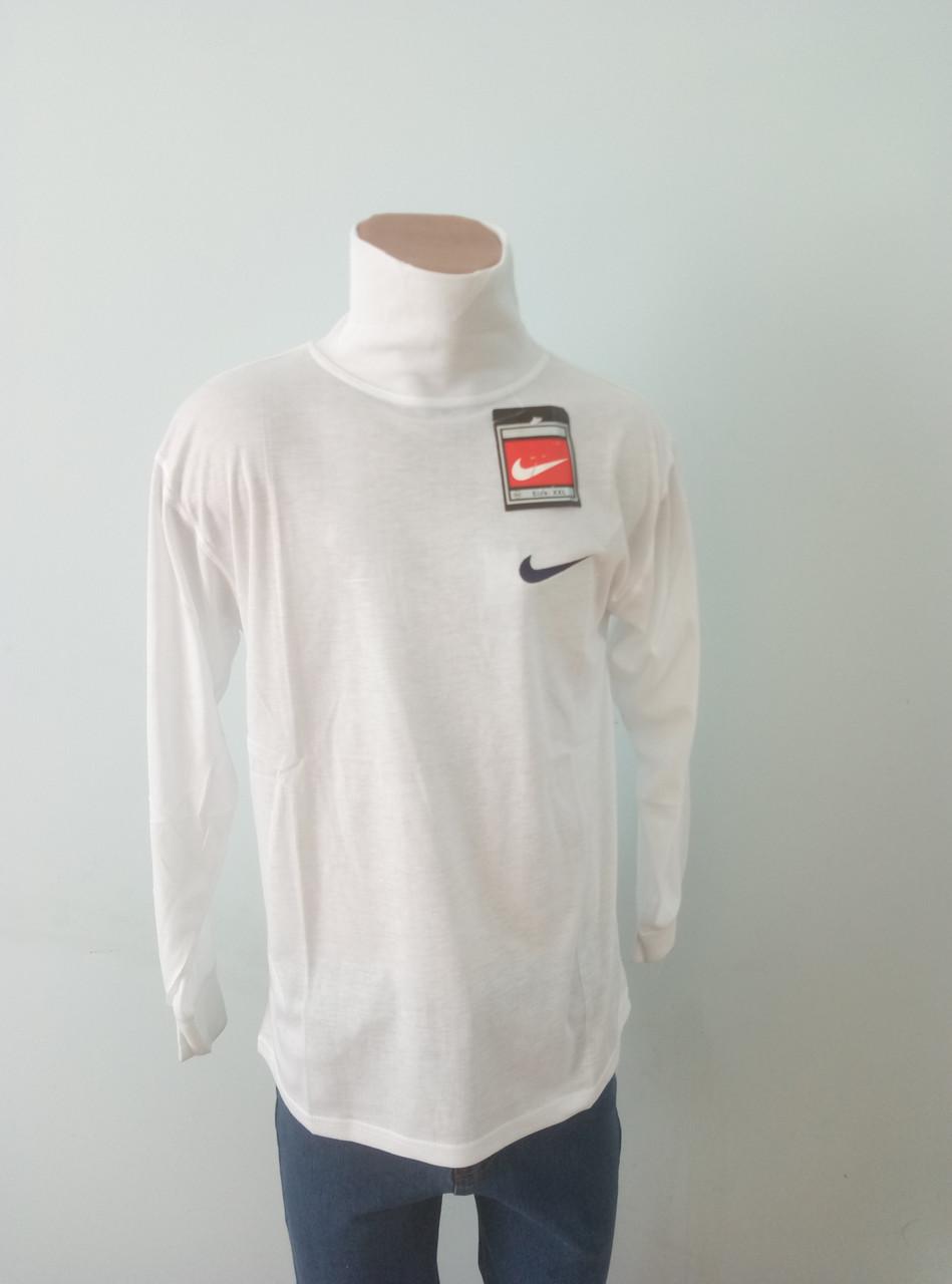 Гольф мужской коттоновый  брендовый белый реплика NIKE