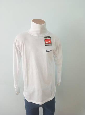 Гольф мужской коттоновый  брендовый белый реплика NIKE, фото 2