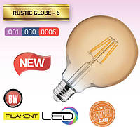 Лампа Эдисона FILAMENT LED Шар 6W/2200K/E27