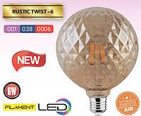 Лампа Эдисона FILAMENT LED Твист 6W/2200K/E27
