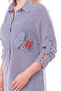 Женская рубашка Стиль цвет черно-белый размер 54,56, фото 3