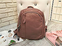 Молодежный женский рюкзак пудра