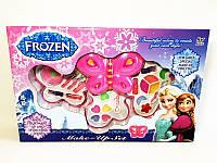 Игровой набор для девочек Косметика Frozen (V92960E) 3-х ярусная, тени, помада, кисточки, блестки, в коробке