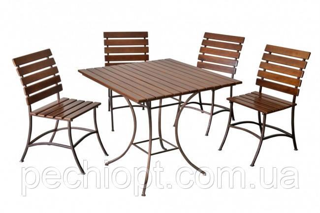 Кованый стол стул