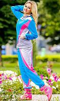 Голубой спортивный костюм