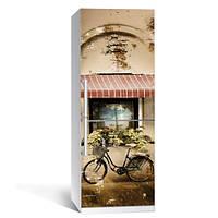 Интерьерная наклейка на холодильник Ретро (полноцветная печать)