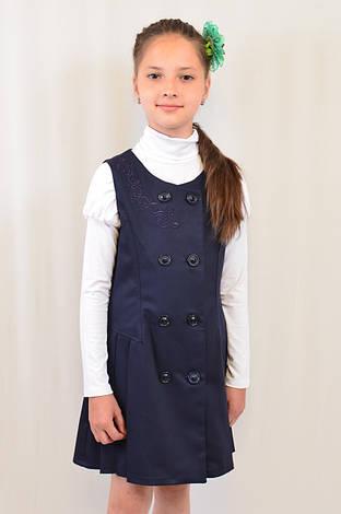 Нарядный красивый школьный сарафан с вышивкой р.122-146, фото 2