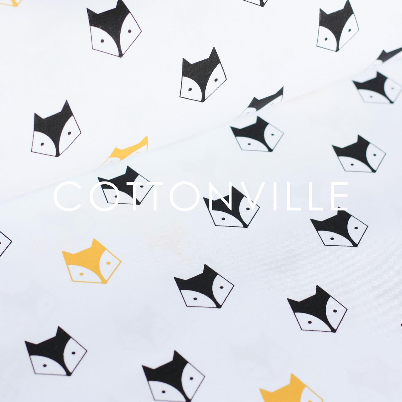 ✁ Отрезы бязи Лисички желто-черные
