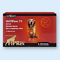 Фипрекс L 75 (фипронил 75 мг) спот-он для собак 20-40 кг средство от клещей и блох