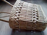 Сумка плетенная из рогоза
