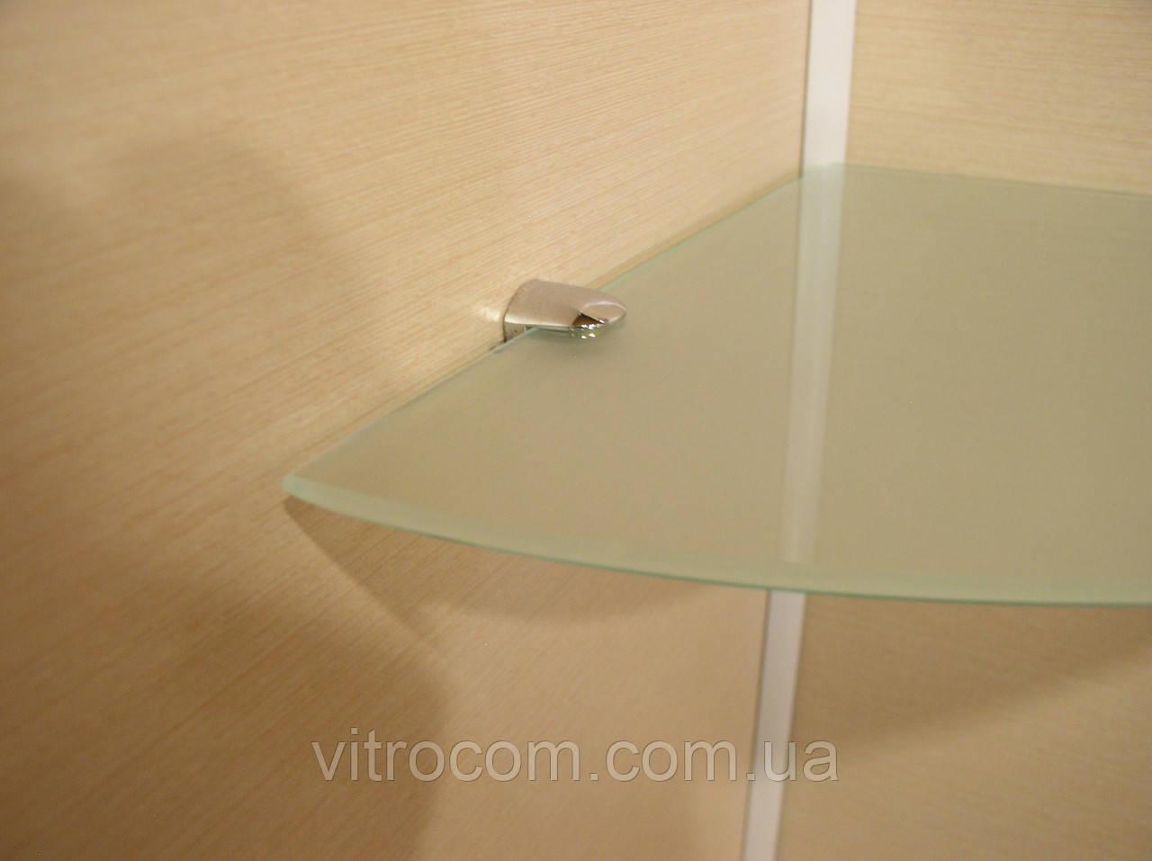 Полка стеклянная угловая 4 мм матовая 25 х 25 см