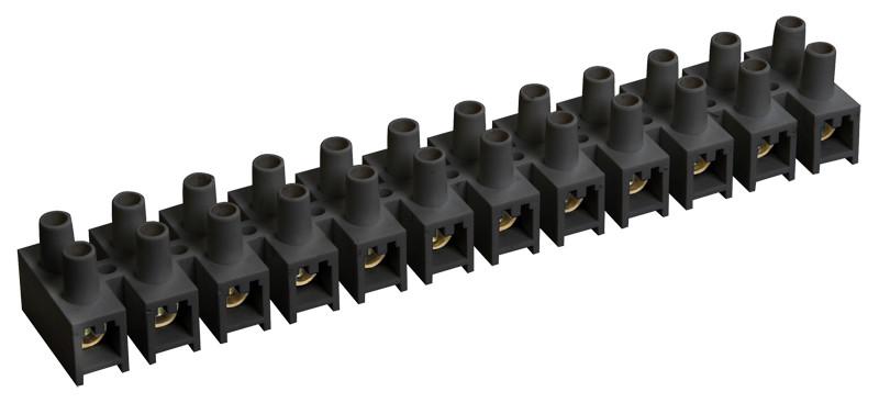 Зажим винтовой ЗВИ-15 н/г 4,0-10мм2 (2 шт/блистер) ИЭК черные