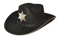 Карнавальная Шляпа Головной Убор Шерифа для Вечеринки