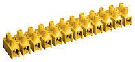 Зажим винтовой ЗВИ-3 н/г 1,0-2,5 мм2 (2 шт/блистер) ИЭК желтые