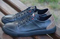 Мужские кроссовки Che Guevara by Tommy Hilfiger, кожа, черные.