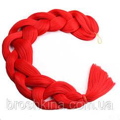 Канекалон красный 60 см в плетении