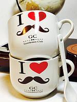 Оригинальный Сувенир Набор Кружек с Ложками Gentlemen Club Чашки для Джентльменов