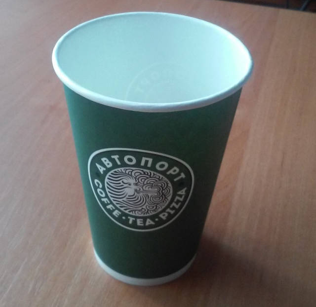Печать логотипа на одноразовых стаканчиках
