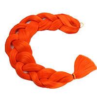 Канекалон для плетения кос оранжевый 1,3 метра