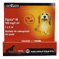 Фипрекс М 75 (фипронил 75 мг) спот-он препарат от клещей и блох для собак 10-20 кг