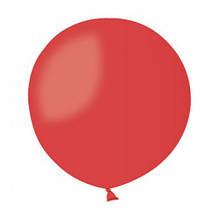 Шар без рисунка 45 см красный с гелием